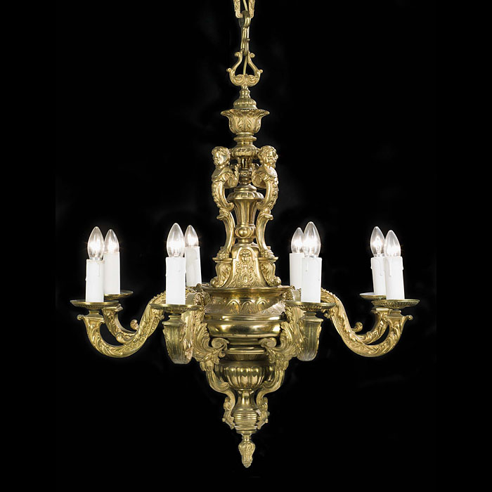 A Large Victorian Eight Branch Chandelier
