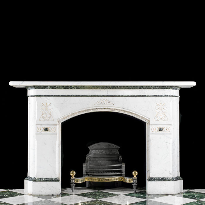 A Large Aesthetic Movement Marble Fireplace