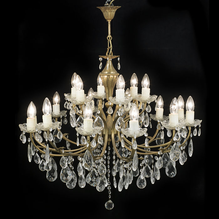 A large 20th century eighteen branch chandelier