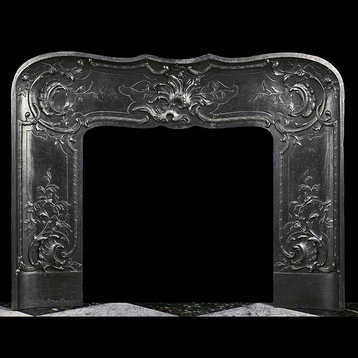 Foliate and Floral cast iron Louis XVI Fireplace Insert