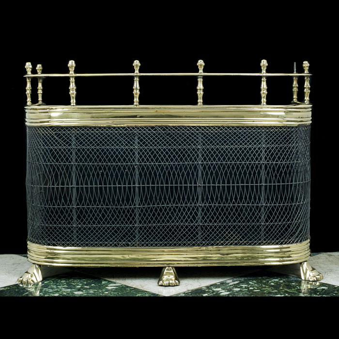 A 19th Century Brass & Mesh Nursery Fender