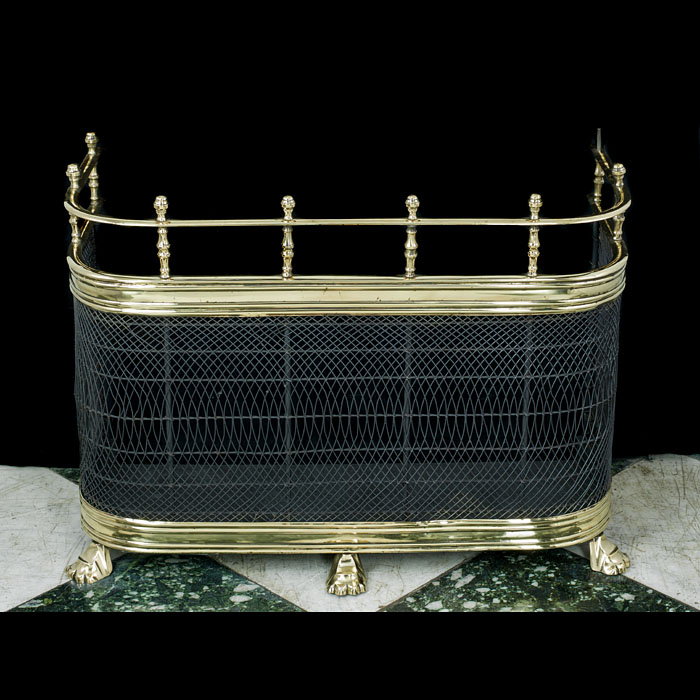 A 19th century brass and mesh antique nursery fender