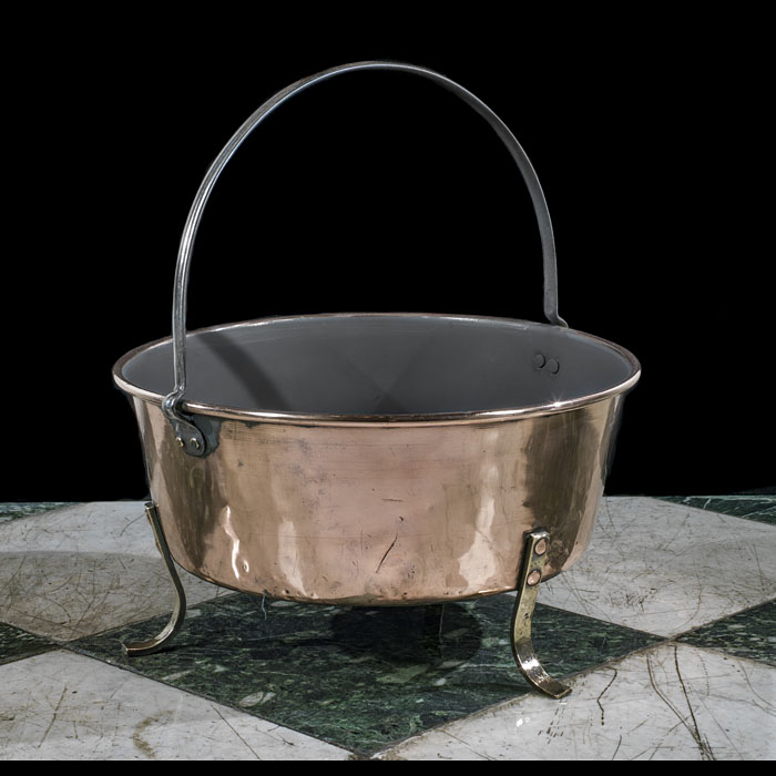 A 19th century copper pan or cooking vessel