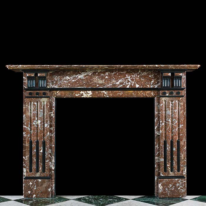A Languedoc Marble Victorian Fireplace