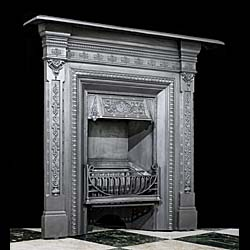 Victorian cast iron small fireplace surround