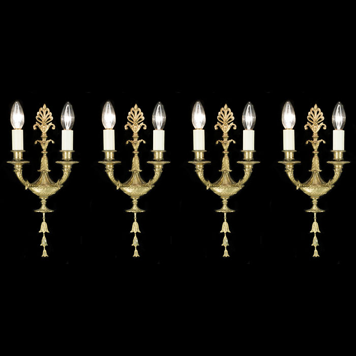 A Set of Four Regency Style Wall Lights