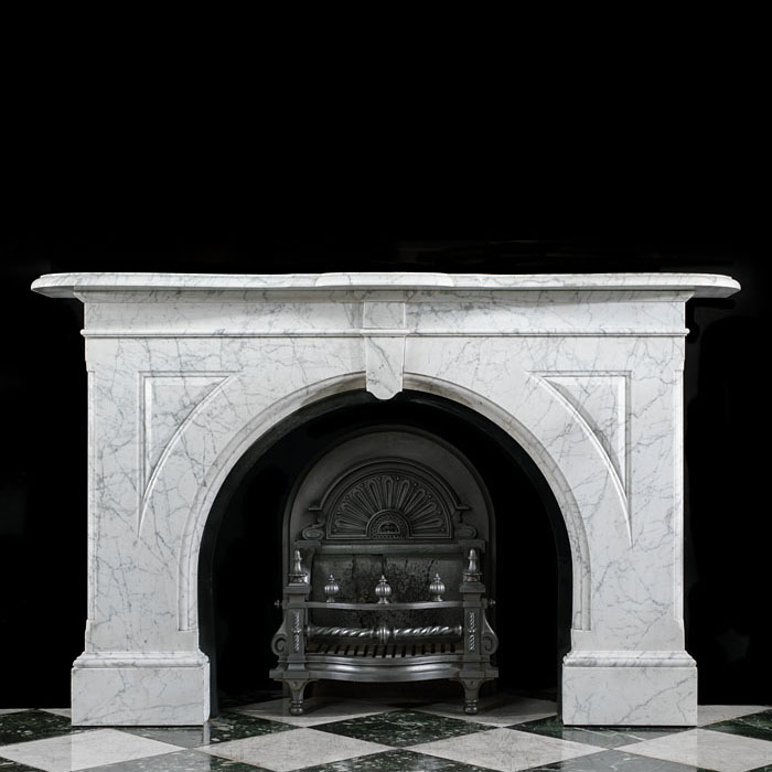 A Victorian Pencil Statuary Arched Fireplace