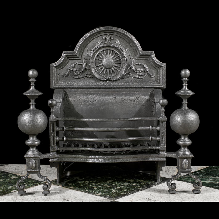 A Large Baroque Style Victorian Fire Basket