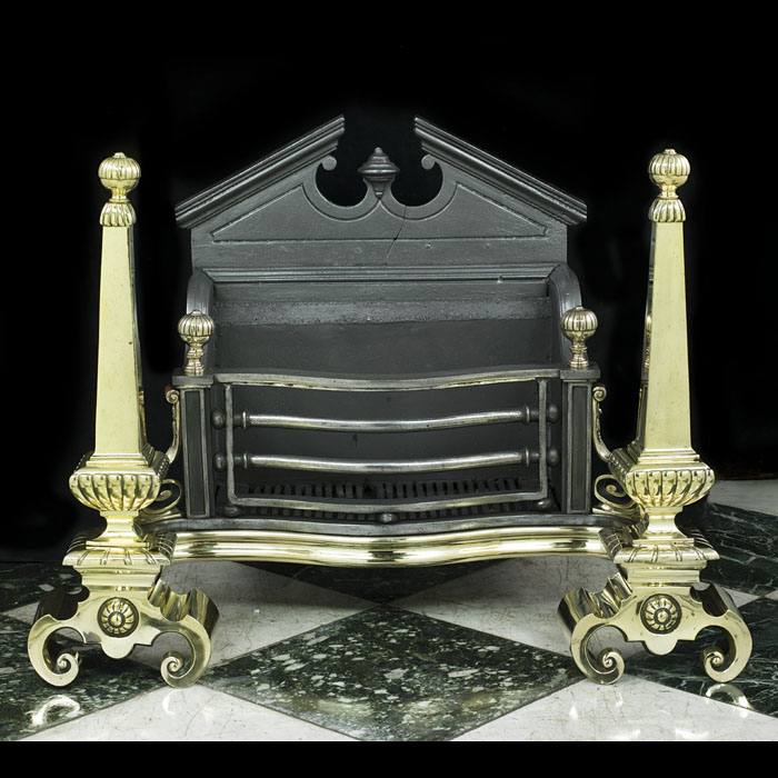 A Victorian Neoclassical  style large antique fire grate