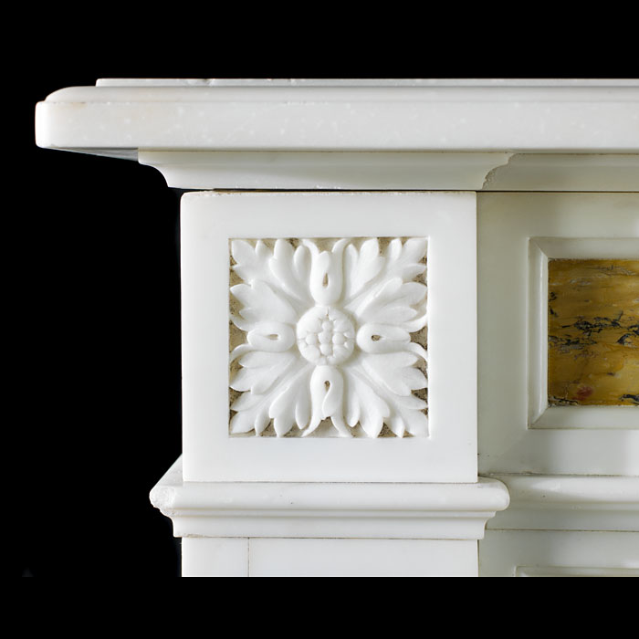 A Statuary & Siena antique Victorian marble fireplace