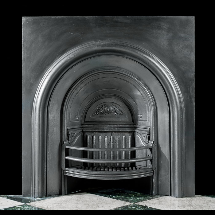 An Arched Victorian Fireplace Insert