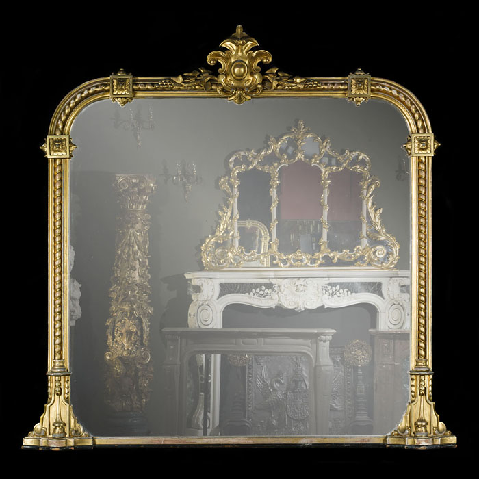 A Large Victorian Giltwood Overmantel Mirror