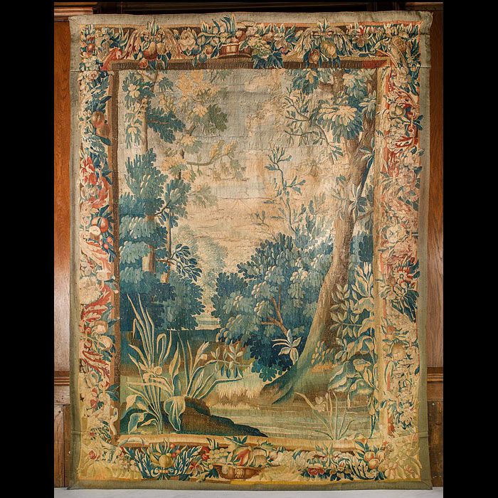 An 18th Century Verdure Aubusson Tapestry