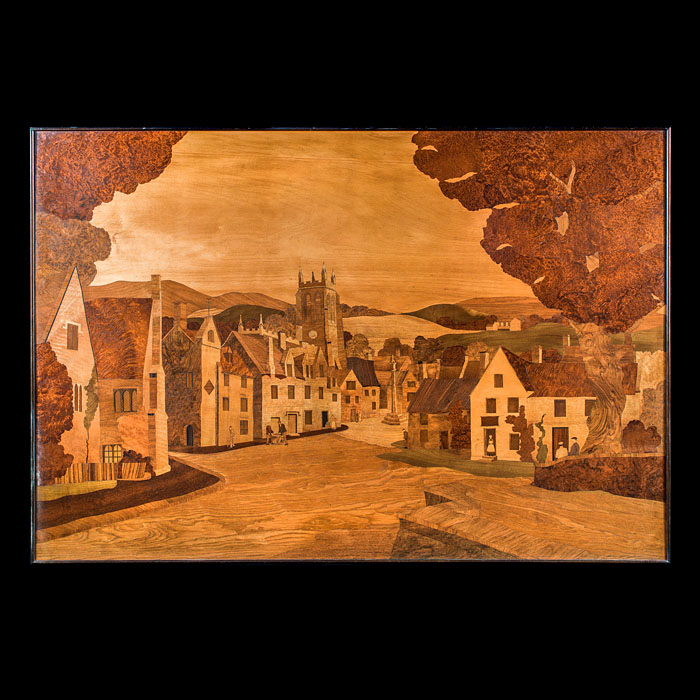 A Large Arts & Crafts Marquetry Panel
