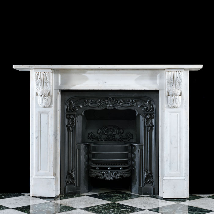 A Victorian corbel statuary marble fireplace.