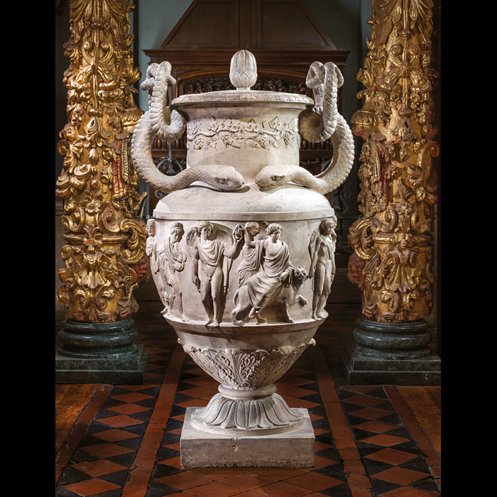 A very impressive and large Regency stoneware urn