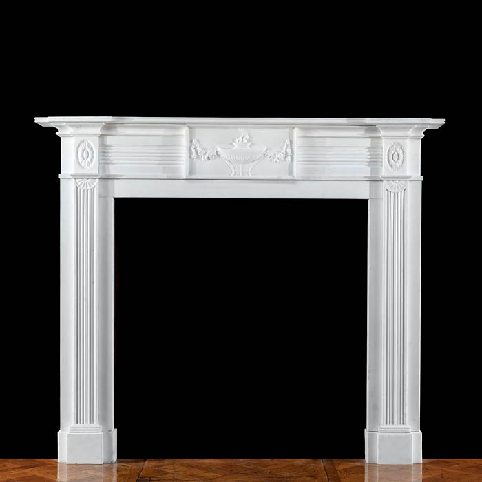 A Scottish Regency Statuary Marble elegant antique fireplace