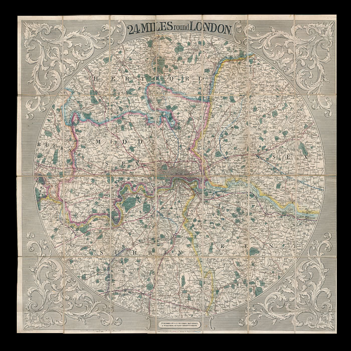 G. F. Crutchley's 19th century folding Map of London