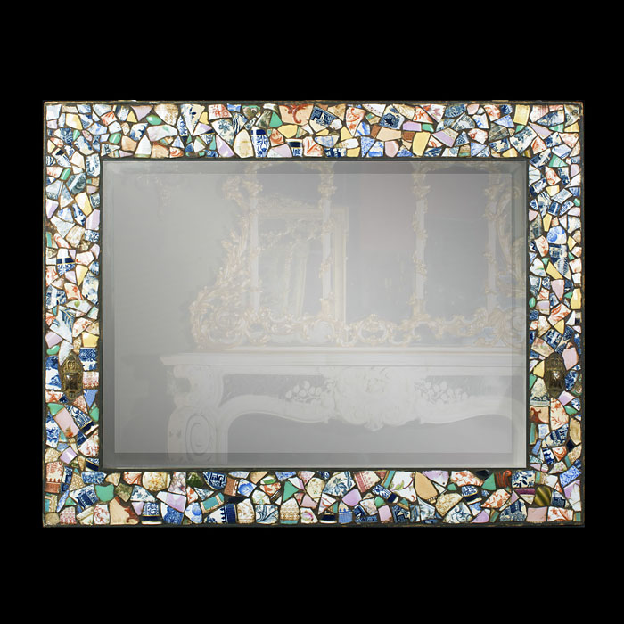 A 20th Century Mosaic Framed Wall Mirror