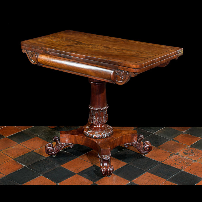 A William IVMahogany Games or Side Table