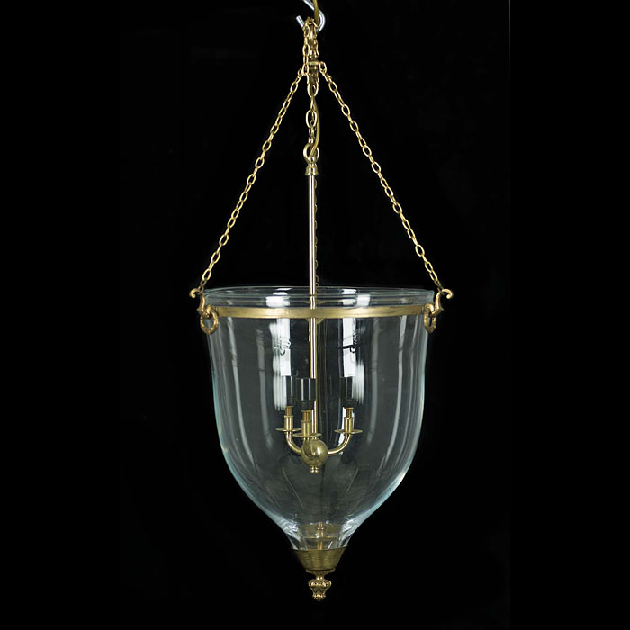 A Regency Style Bell Shaped Ceiling Light