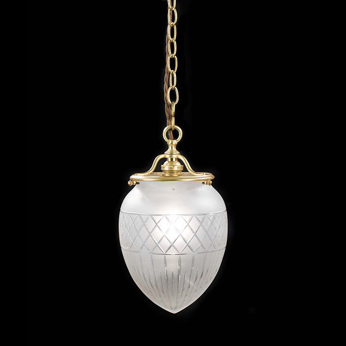 Edwardian Cut & Frosted Glass ceiling light