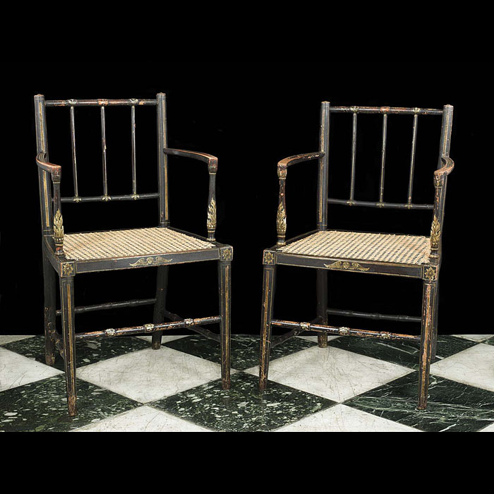 A pair of George III painted chairs