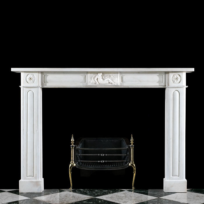 A Statuary Marble Regency fireplace surround