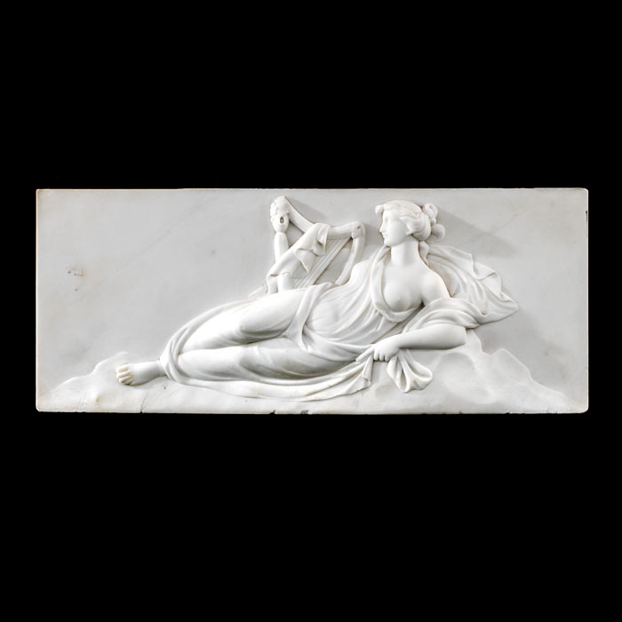 A Georgian marble tablet of a Greek muse