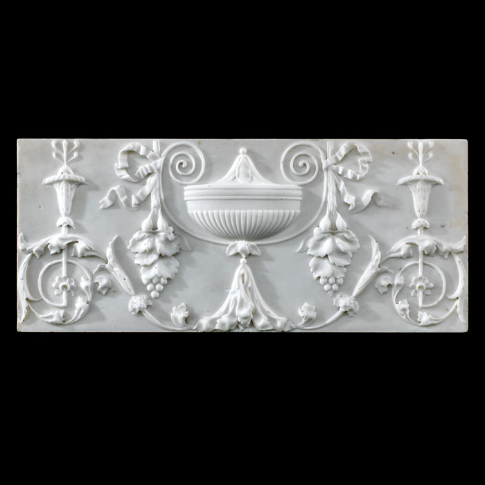 A Statuary Marble Neoclassical style plaque