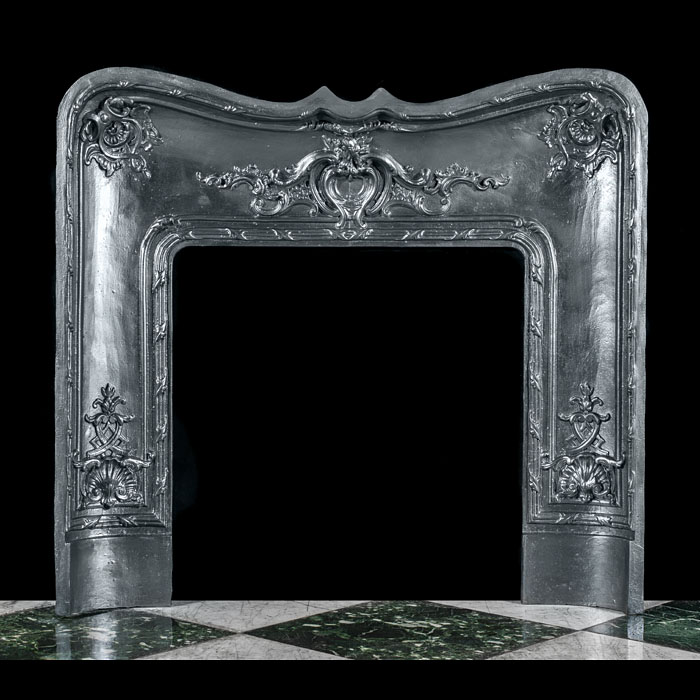 A Rococo Style Cast Iron Fire Insert