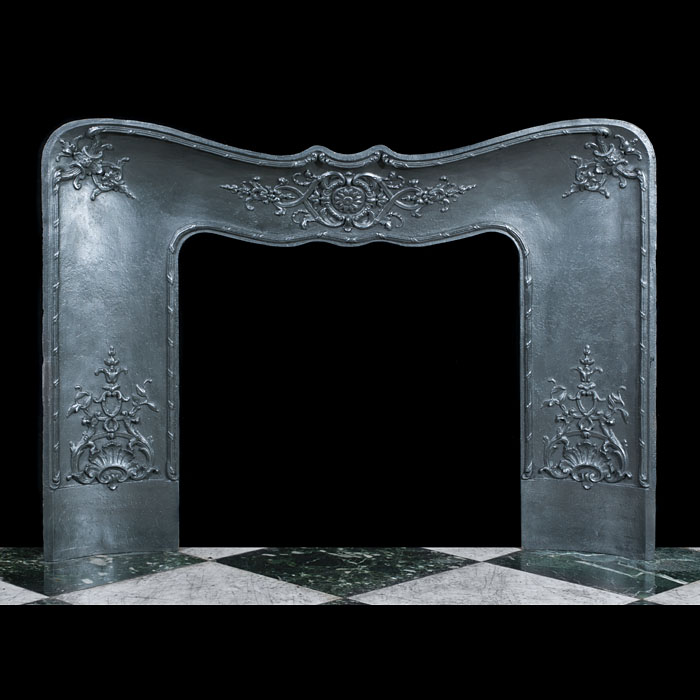 A Cast Iron Rococo Style Fireplace Insert