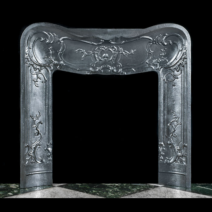 A Rococo Style Cast Iron Fireplace Insert