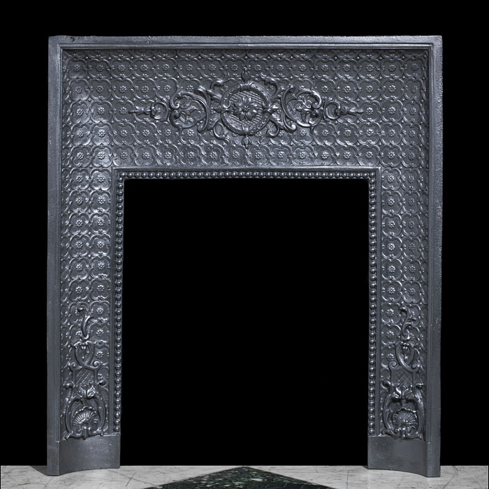 A cast iron Louis XVI decorative insert