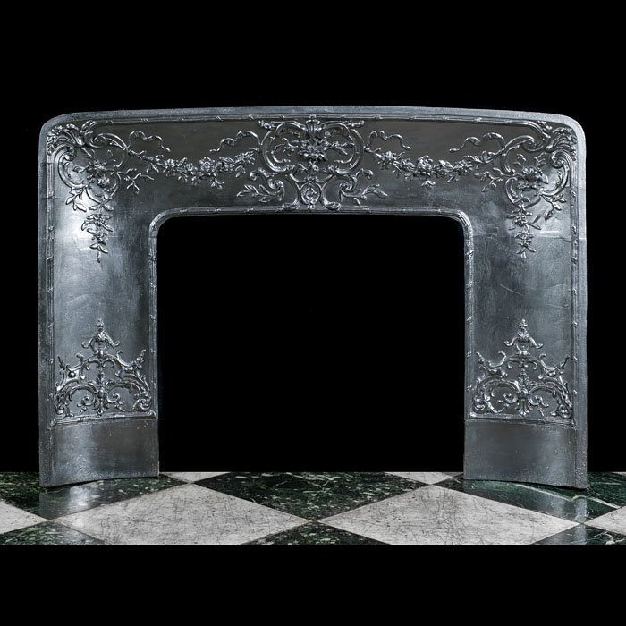 A Large Louis XIV Ornate Fireplace Insert
