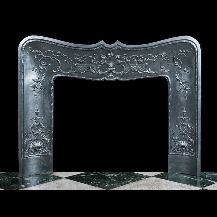 A Large Rococo Style Fireplace Insert