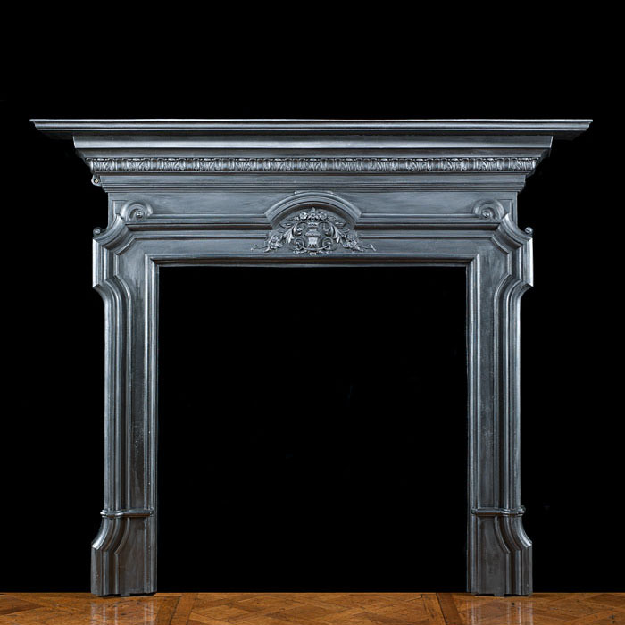 A Neoclassical Style Cast Iron Fireplace