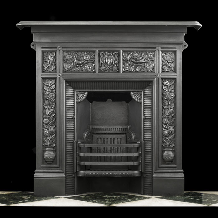 A Small Victorian Combination Fireplace