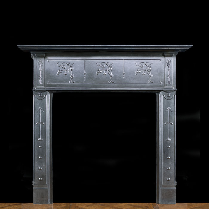 A cast iron Art Nouveau Fire Surround