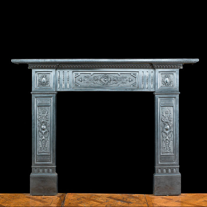A cast iron Victorian fire surround