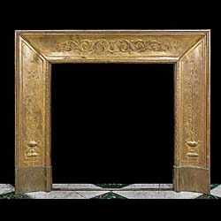 A French  brass fireplace insert
