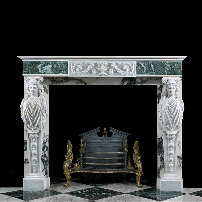 A Statuary Marble Regency style Fireplace