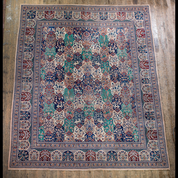 A Persian woolwork carpet from Nain