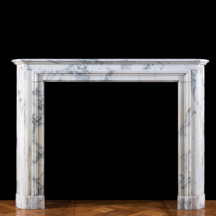 An Arabascato Louis XVI chimneypiece