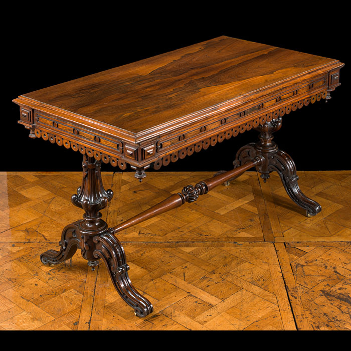 An early Victorian rosewood library table