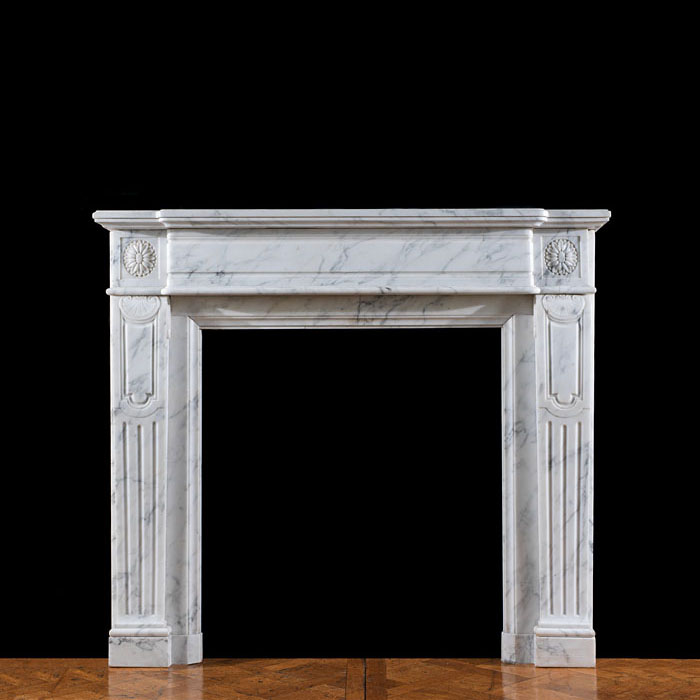 A Carrara Marble Louis XVI fire surround