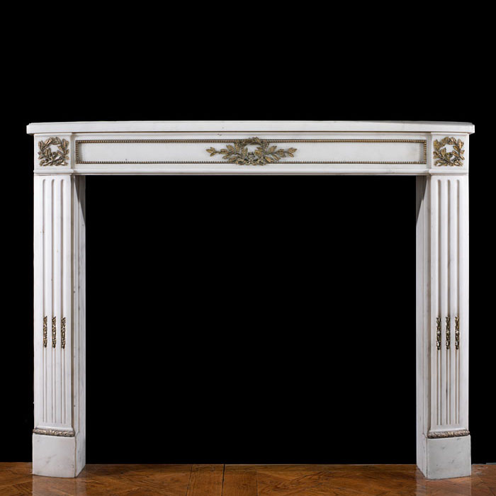 A Louis XVI Statuary Marble chimneypiece