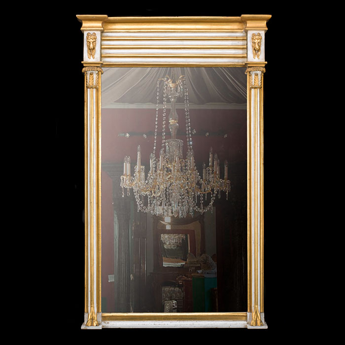 A parcel gilt Regency wall mirror