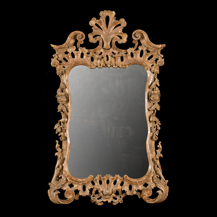 A George III giltwood wall mirror