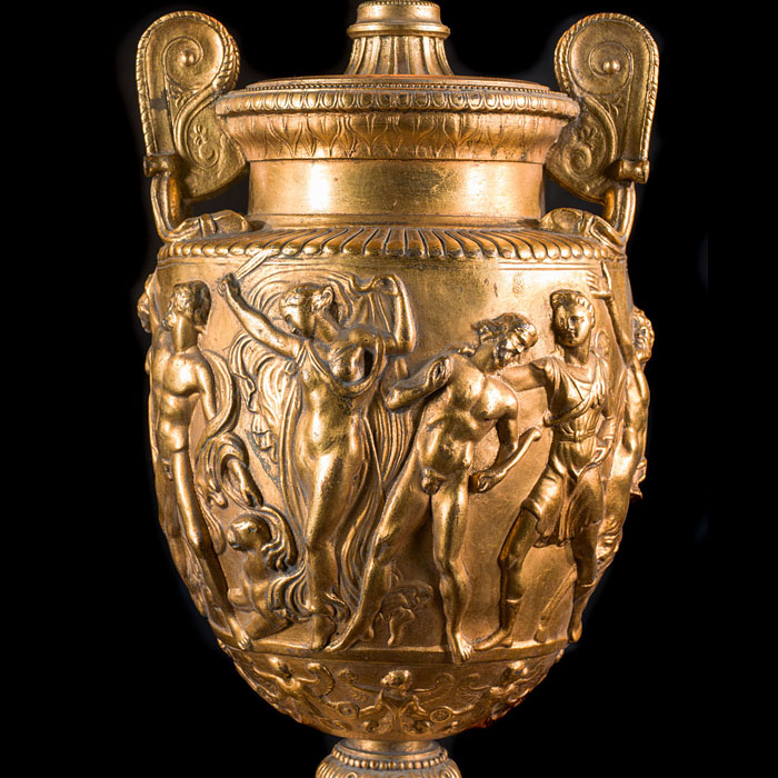A gilt brass Dance of the Maenads lamp base